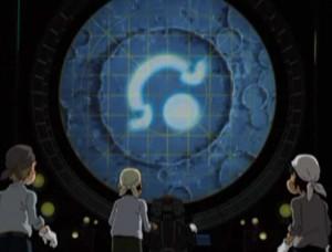 Un symbole lumineux apparaît dans un des cratères Lunaires (Albator - Herlock, Endless Odyssey)