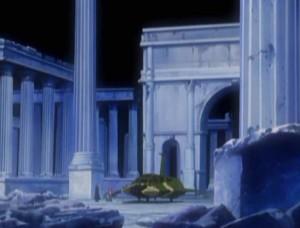 L'intérieur de la pyramide lunaire (Albator - Herlock, Endless Odyssey)