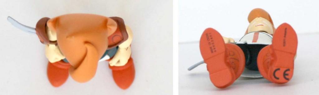Vue de dessus et dessous de la figurine Iop (Dofus - Krosmoz)