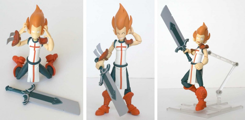 La figurine iop peut utiliser des poses très variées (Dofus)
