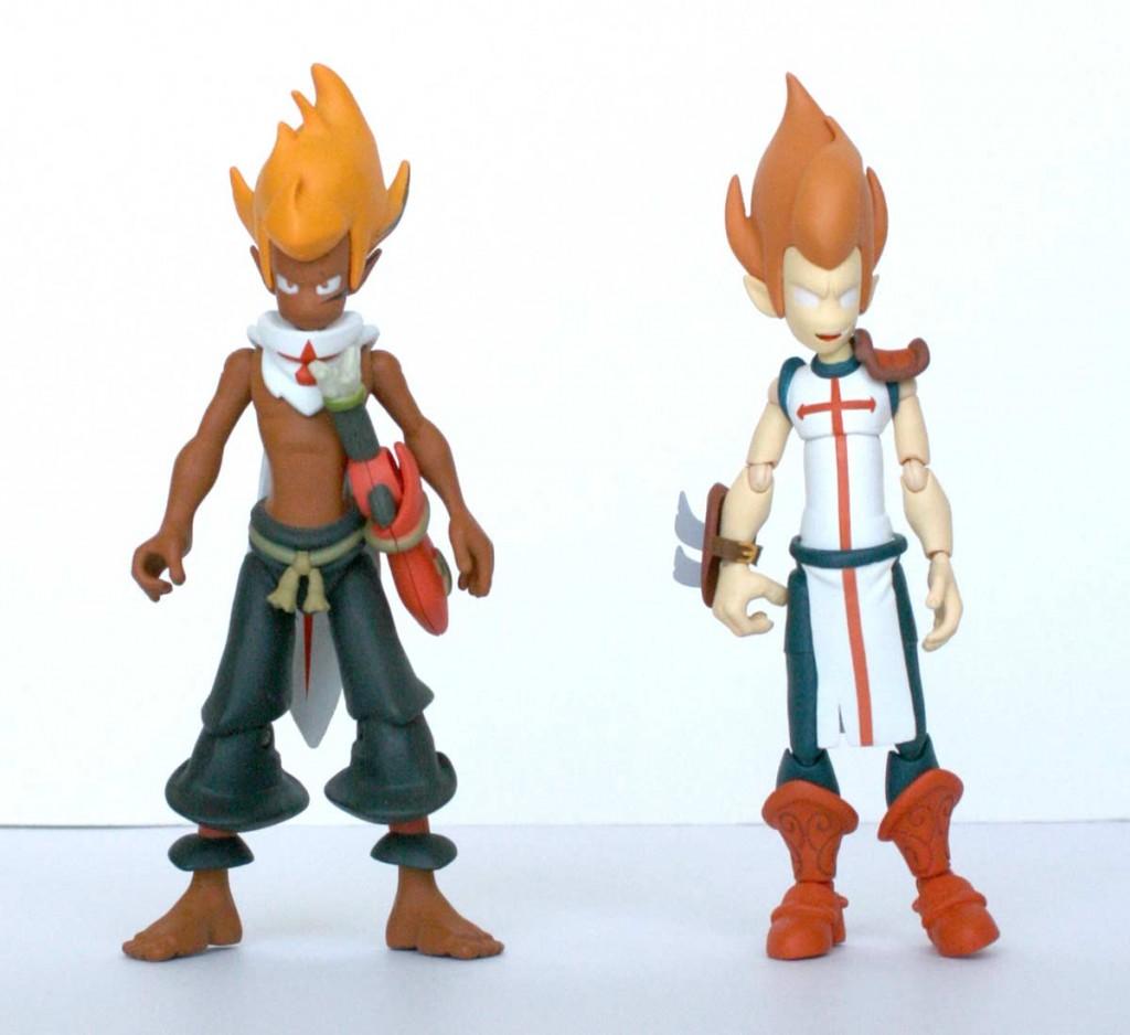 La figurine iop est à peu près de la même taille que le Tristepin DX (Dofus)