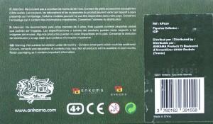 Dessous du packaging de la figurine iop (Dofus - Krosmoz)