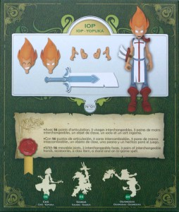 dos du packaging de la figurine iop (Dofus - Krosmoz)