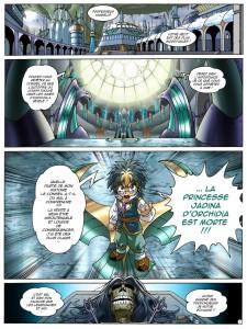 Page 1 du tome 14 des Légendaires