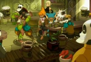 Yugo et ses amis fêtent leur victoire  (Wakfu - épisode 13)