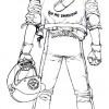Dans le Manga Akira le texte au dos du blouson de Kaneda ne forme pas un cercle