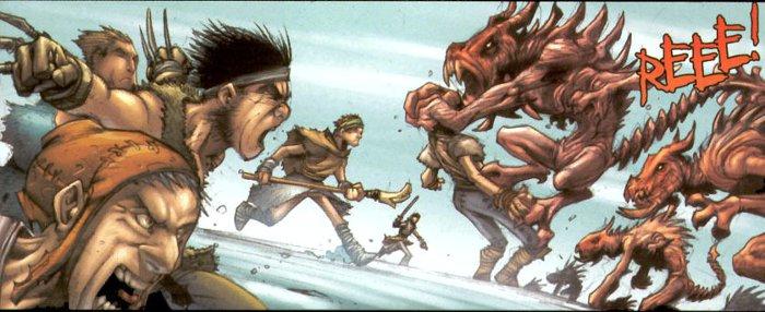 Images tirées du chapitre Rage tiré du comics Tales of Sanctuary (Diablo)