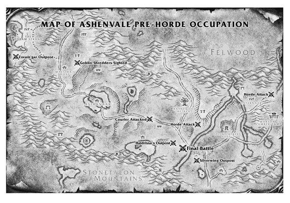 Plan d'Orneval tiré du livre Wolfeart (Warcraft)