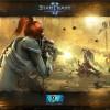 Fond d'écran Starcraft 2 avec Sarah Kerrigan combattant les Zergs