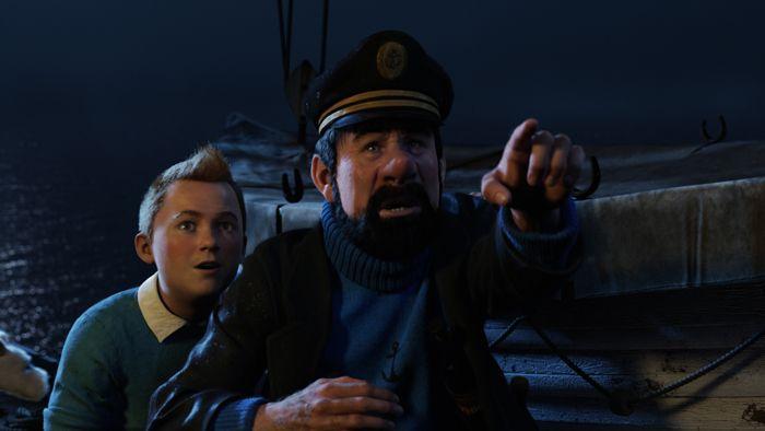 Tintin et Haddock sur le Karaboudjan