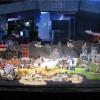 Photographie d'un décors de Warcraft réalisé en Mega bloks opposant la Horde et l'Alliance réalisé pour la Blizzcon 2011
