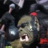 Gros plan de la tête de Thrall réalisé en Mega bloks pour la blizzcon 2011