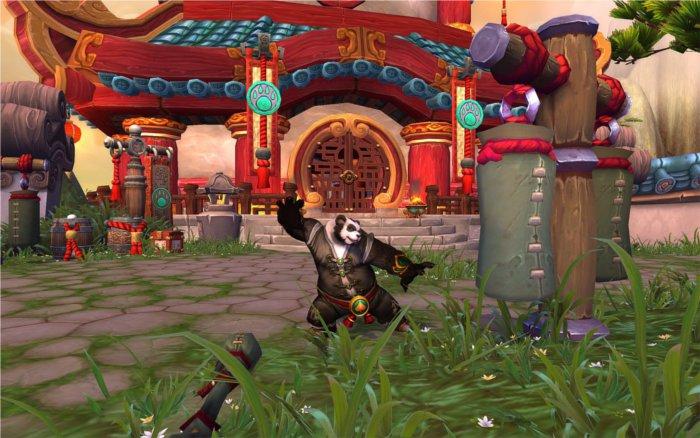 Un pandaren s'entraînant aux arts martiaux