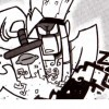 Goultard retire son épée de son bras (Dofus Tome 8)