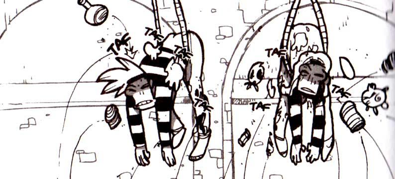 Karibd et Silar sont martyrisé par les villageois (Dofus Tome 8)