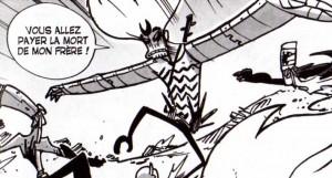 Les bras s'aplatissent et évoquent les ailes des Robots dans Laputa (Dofus)