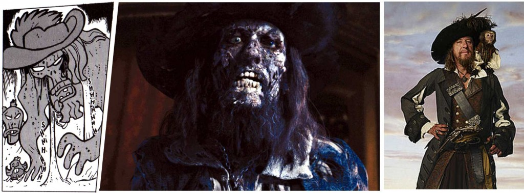 Le mort vivant avec un chapeau est un clin dil au zombi Barbossa tir du film Pirates des Carabes.