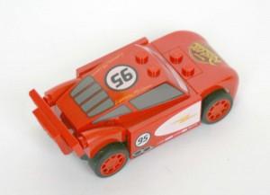 Vue de dos du Flash McQueen Lego 8200