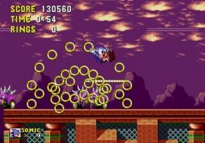 Sonic perd ses anneaux lorsqu'il est touché