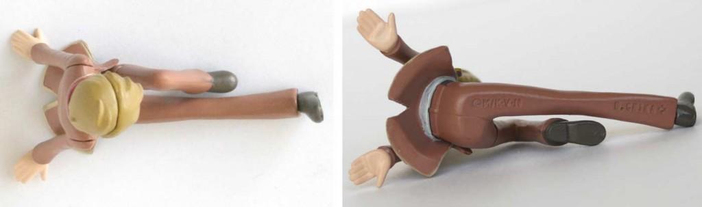 vue de dessus et dessous du Gashapon Tadashi (figurine Albator - Herlock Endless Odyssey)