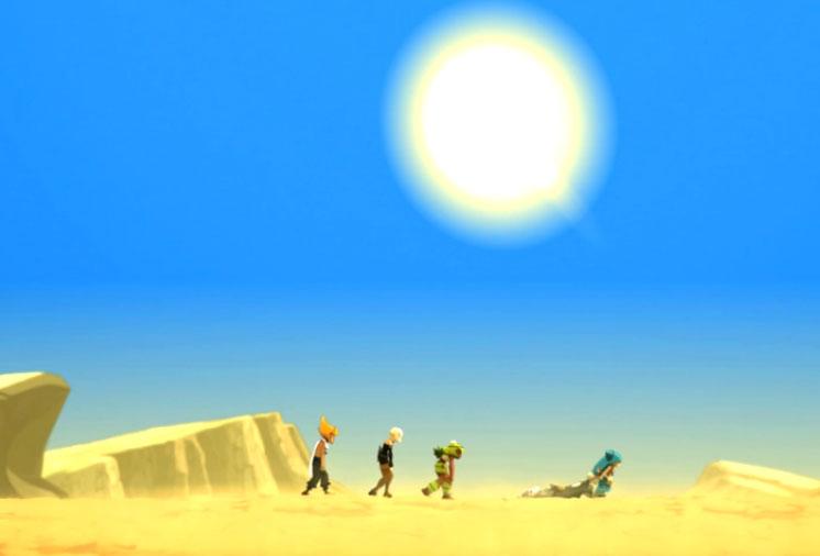 La plus grande partie de l'île est un désert (Wakfu)