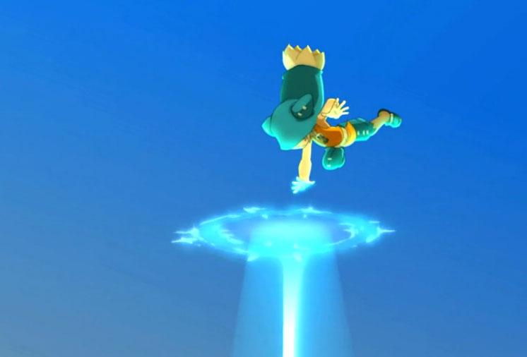 C'est la première fois que Yugo utilise trois portail pour faire son laser (Wakfu)