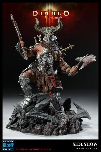 Figurine Diablo 3 Overthrown Barbare : avec le casque de face