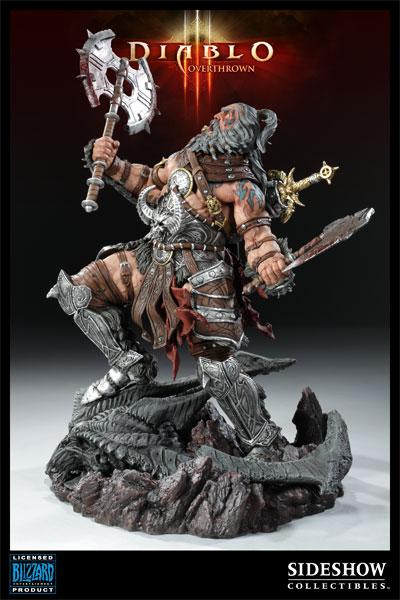 Figurine Diablo 3 Overthrown Barbare : côté