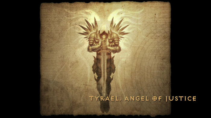 artwork de Tyrael dans Diablo