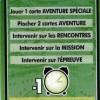 Dos de la carte d'aide du jeu de société les aventures de Tintin