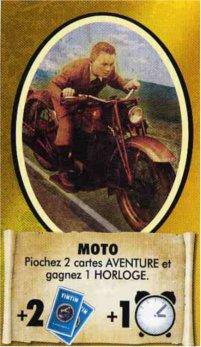 Carte bonus moto du jeu de société les aventures de Tintin