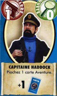 Carte héros Capitaine Haddock du jeu de société les aventures de Tintin
