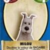 Carte héros Milou du jeu de société les aventures de Tintin