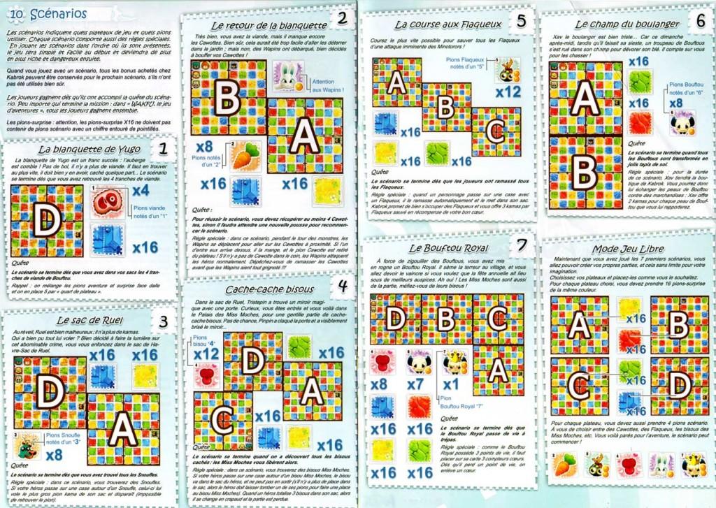 Page 6 et 7 de la notice du jeu d'aventures Wakfu