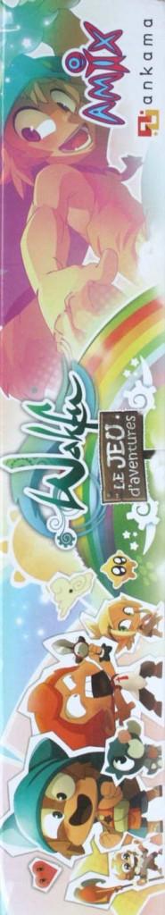 Côté droite du packaging du jeu d'aventures Wakfu (jeu de société)