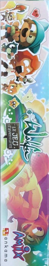 Côté gauche du packaging du jeu d'aventures Wakfu (jeu de société)