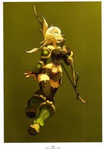 Illustration de crâ tirée du MMO de Wakfu (art book Xa Colors sur Wakfu et Dofus)