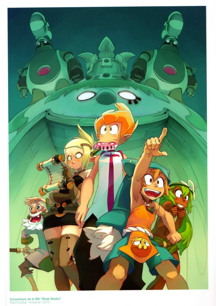 Illustration sur Wakfu (art book Xa Colors)