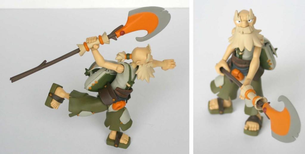 La figurine de Ruel est relativement stable et équilibrée