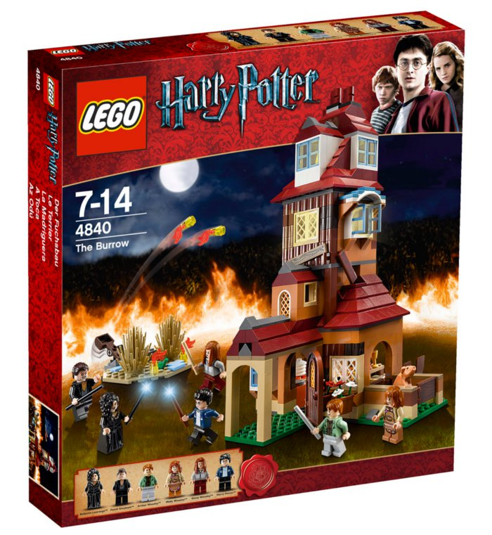 Maison des Weasley en Lego