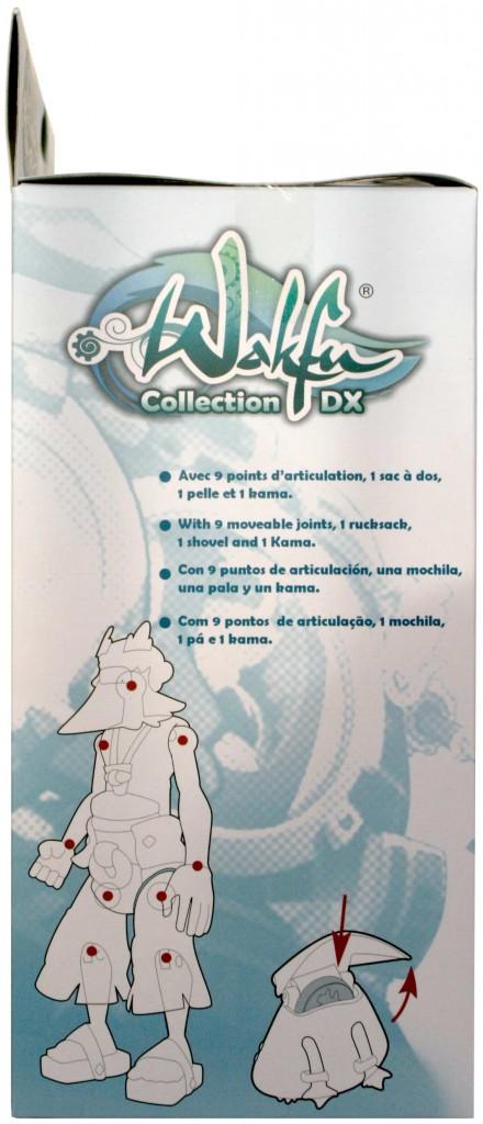 Coté droit du packaging de le figurine Wakfu DX N°5 de Ruel