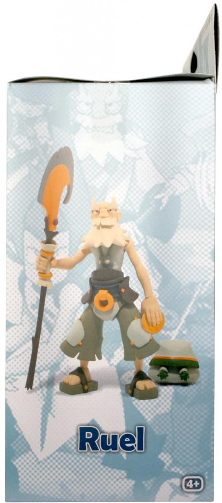 Coté gauche du packaging de le figurine Wakfu DX N°5 de Ruel