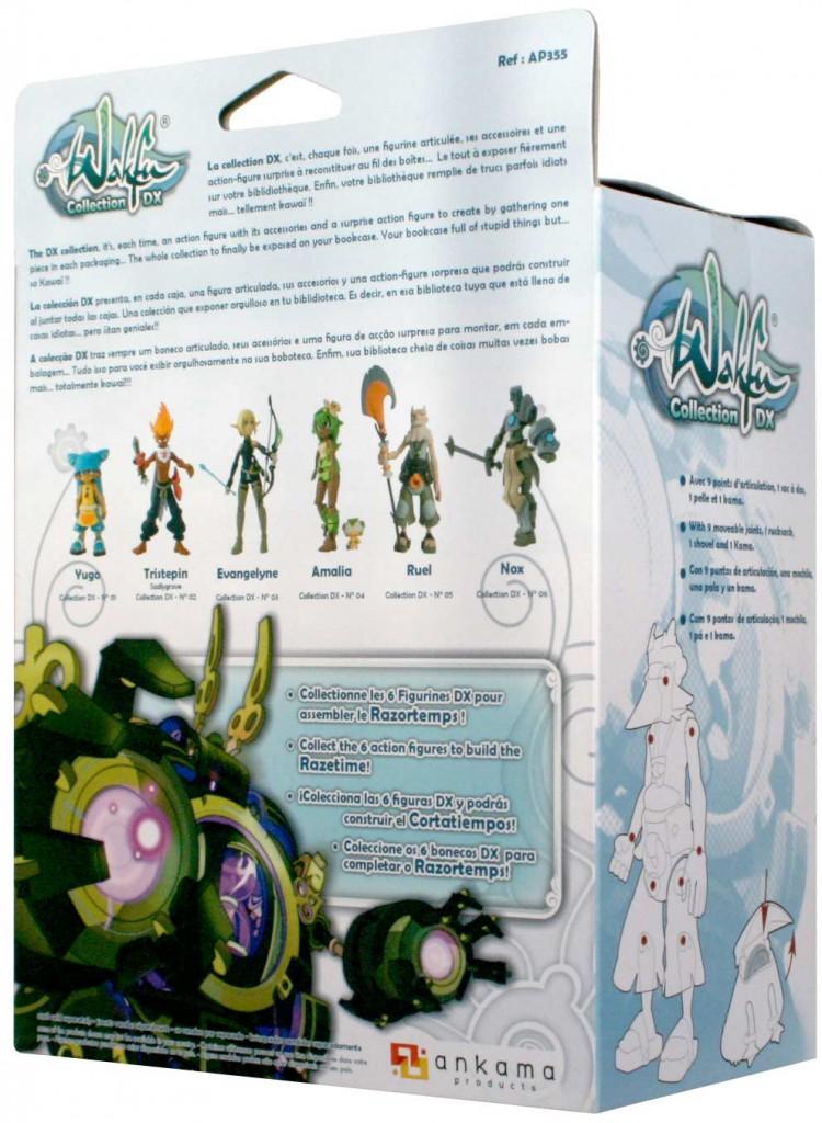 dos du packaging de le figurine Wakfu DX N°5 de Ruel