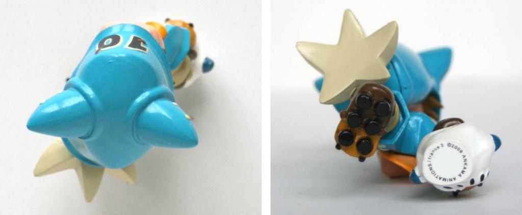Vue de dessus et dessous de la figurine de Yugo Boufbowl