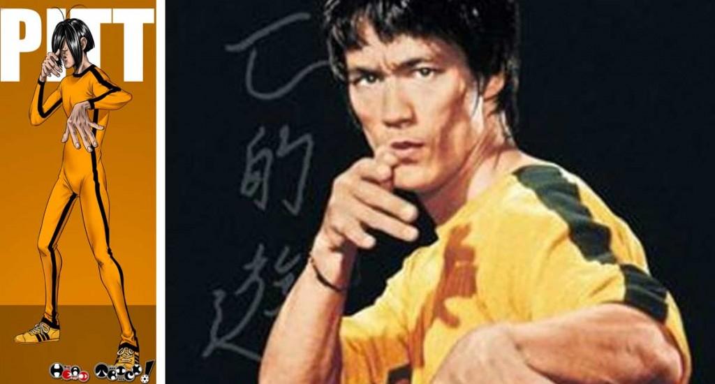Pitt est un clin d'oeil à Bruce Lee (Head-Trick)