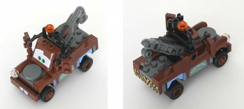 vue en plongée de Martin, Lego 8201 (Cars 2)