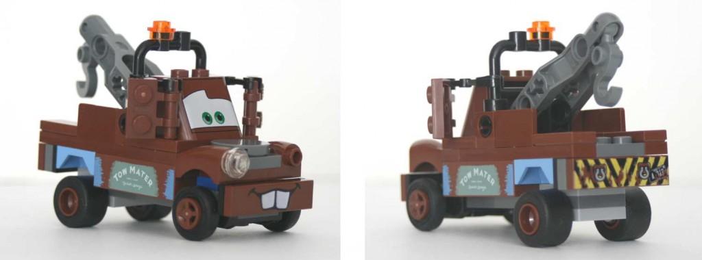 vue de trois-quart de Martin, Lego 8201 (Cars 2)