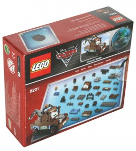 Vue de dos du Packaging du Lego 8201 de Martin (Cars 2)
