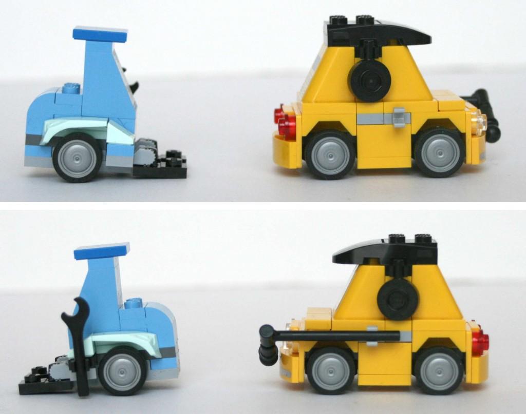 Lego 8206 - Profil Guido et Luigi Tokyo Pit Stop (Cars 2)