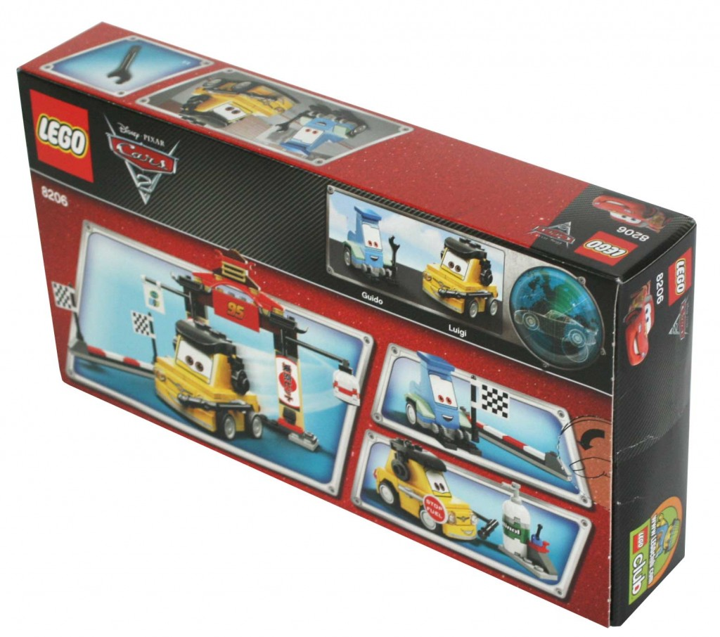 Dos du Packaging Lego 8206 - Guido et Luigi Tokyo Pit Stop (Cars 2)